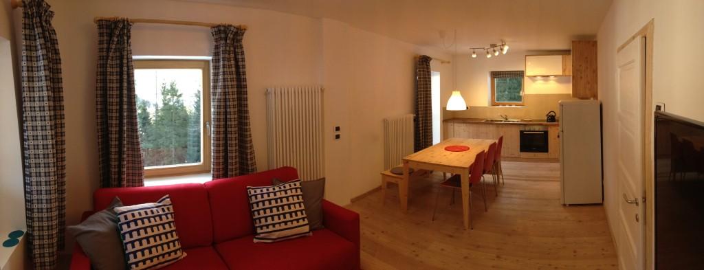 The living room / kitchen /dinner
