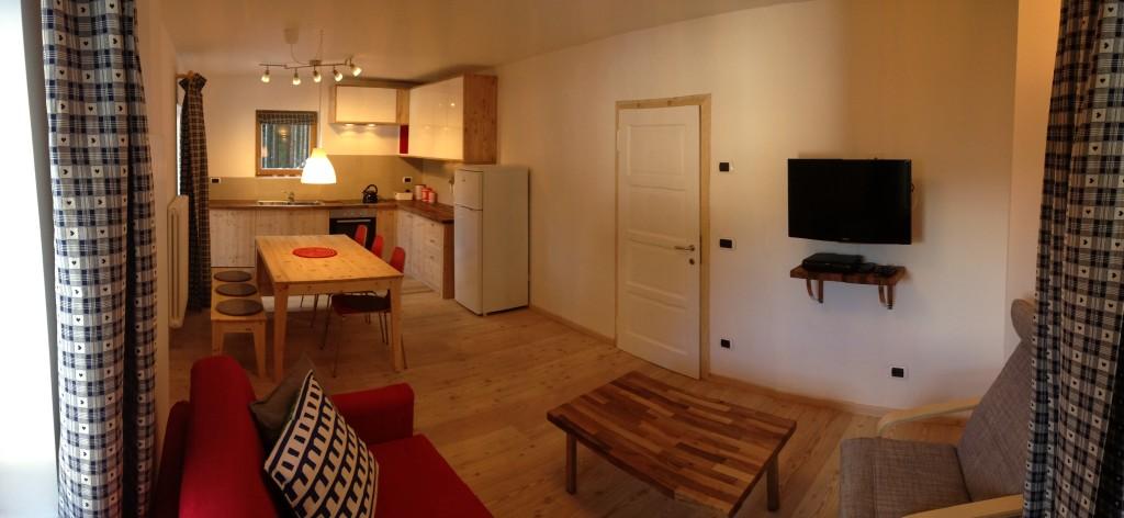 The Marmolada living room / kitchen / dinner
