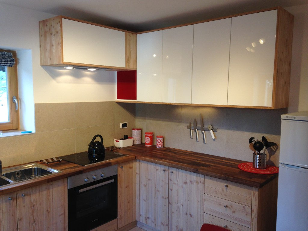 The kitchen in detail.