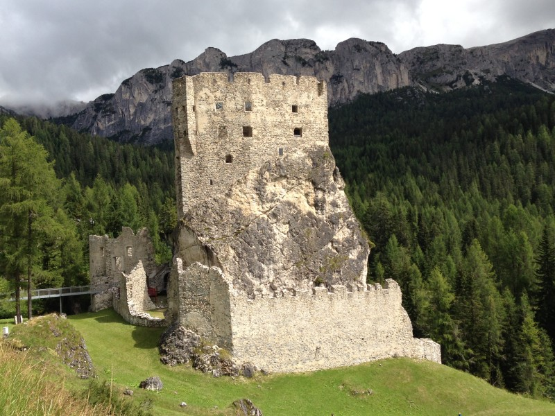 Castello Andraz - a small medieval castle in a stunning mountain setting