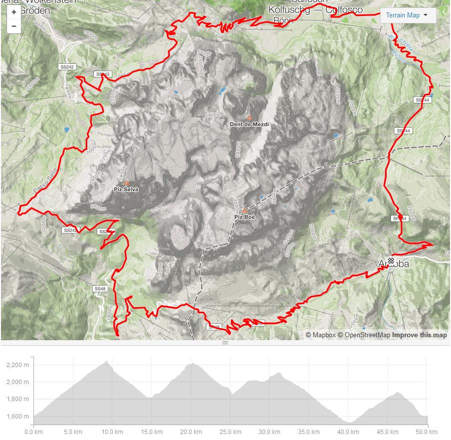 sellaronda road map